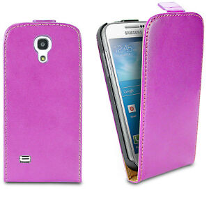 best service 27451 7aa77 Details about Real Genuine Leather Magnetic Flip Case Cover For Samsung  Galaxy S4 Mini Pink