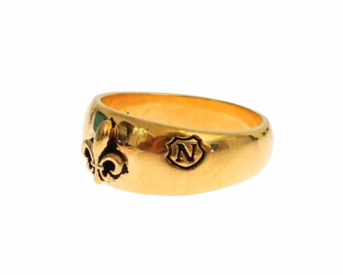 NWT NIALAYA Authentic Mens Gold Plated 925 Silver Ring MRING002 s. US10.5