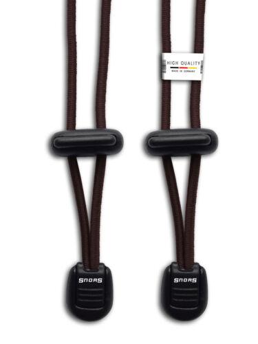 Elastische Gummi Schnürsenkel rund 120cm Schnellverschluss Schnellschnürsystem