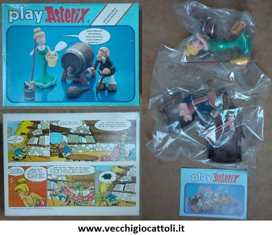 Play Asterix Goshinny & Uderzo personaggi Matusalemix e sua moglie 1980