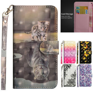 For-iPhone-XS-Max-6-7-8Plus-Pattern-Magnet-Leather-Strap-Wallet-Flip-Case-Cover