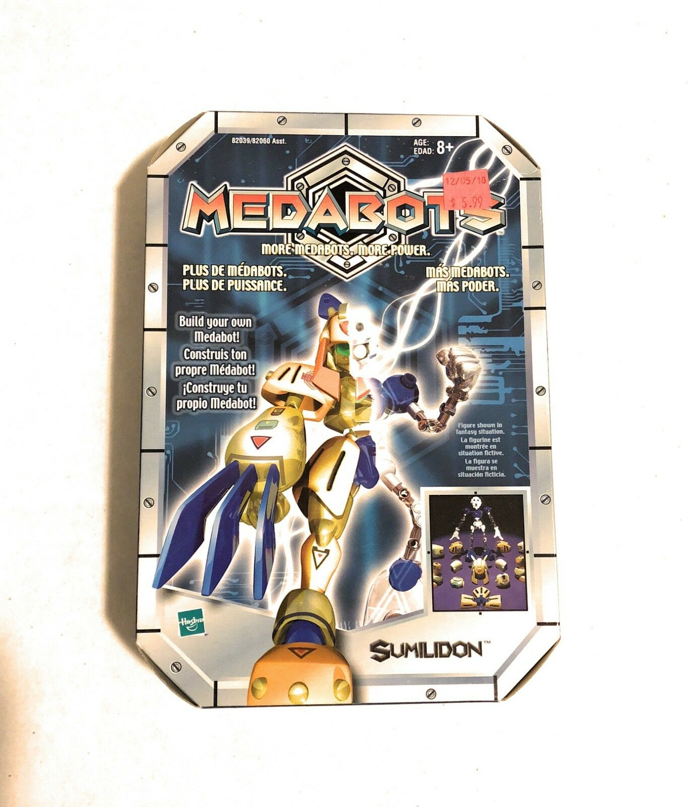 Brand New 2002 Hasbro Medabots Sumilidon Build Your Own Medabots Set Figure