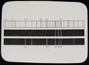 Glass-Magic-Lantern-Slide-SPECTRUM-OF-NEBULA-C1900-SPECTRUM-ANALYSIS-ASTRONOMY