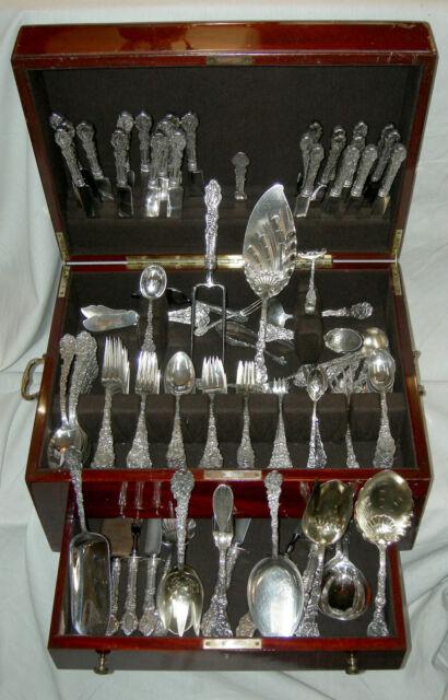 Sterling Gorham VERSAILLES flatware set (173 pieces) Ca. 1888