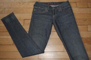 TOMMY-HILFIGER-Jeans-pour-Femme-W-25-L-32-Taille-Fr-34-NAVADA-PANT-Ref-Y108