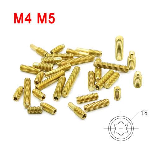 M4 M5 Brass Trox Socket Set Screw Flat Point Grub Screws Setscrews DIN 913