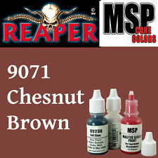 CHESTNUT BROWN 9071 -MSP 15ml 1/2oz paint pot peinture figurine REAPER MINIATURE
