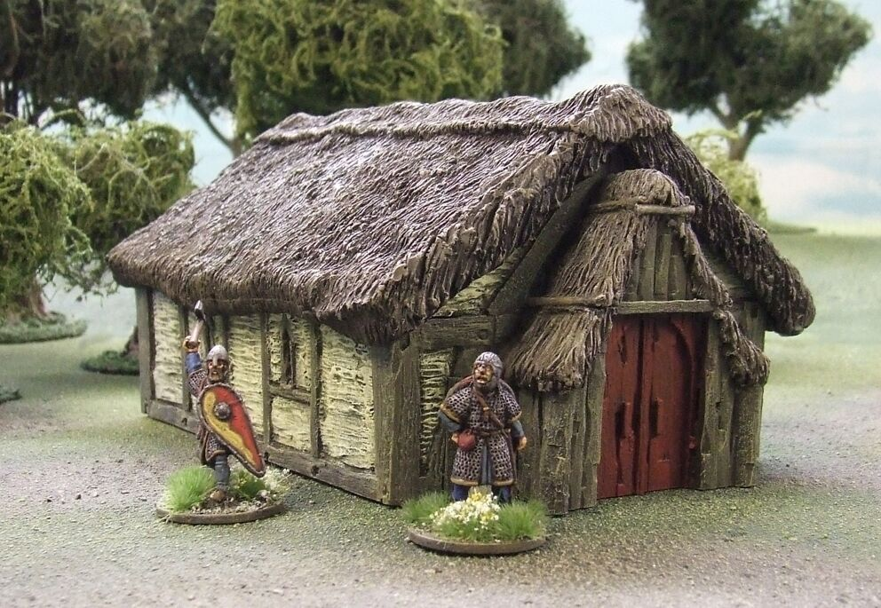 28MM DARK AGE 'JARLS DWELLING' (Yellow Variant) - PAINTED TO COLLECTORS STANDARD