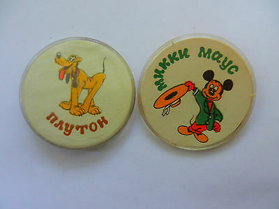 Vintage soviet plastic childrens pin badges   Cartoon characters  Made in USSR 1980s