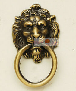 4pcs China Furniture Hardware Zinc Iron Alloy Lion Face Drawer Handle Pull Knobs Avoir à La Fois La Qualité De TéNacité Et De Dureté
