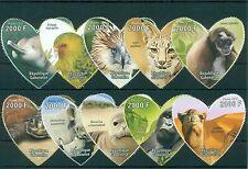 Fauna Animals Birds Dolphins Gabon 10 MNH stamps set