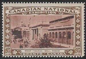Canada Poster stamp: 1937 Canadian National Exhibition CNE, Ball Room West-dw13w