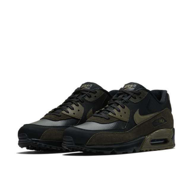Uomo Air Max '90 Running Shoes Nero/Olive/Sequoia Sizes 8-13 NIB 302519-014