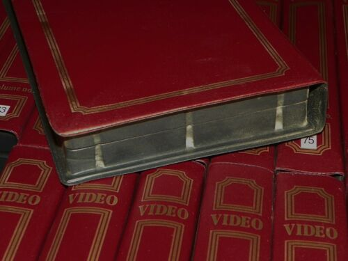 VTG Lot Of 20 MORE Old Book Style VHS Tape Plastic CASES Storage Covers RETRO