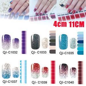 Nail-Art-Wraps-Stickers-Decals-Glitter-Powder-Full-Self-Adhesive-Manicure-Decor