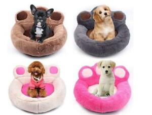 Paw Shape Pet Dog Cat Puppy Bed Soft Fleece Warm Doghouse Kennel Mat
