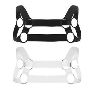 Sexy-Men-039-s-Nylon-Body-Chest-Harness-Belt-Elastic-Gay-Club-Wear-Straps-Costumes