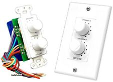 NEW Pyle PVCD15 In-Wall Two Speaker Dual Knob Independent Volume Control w/Plate