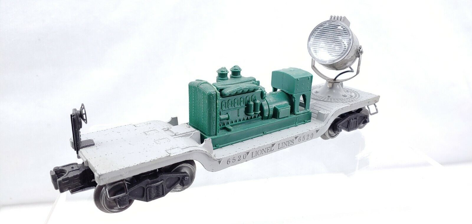 RARE Lionel Trains Postwar 6520 Powerot Licht wohnung voiture With Grün Generator