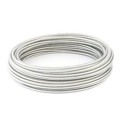 50m PVC cable acier 6mm noir couleur 1x19 gaine