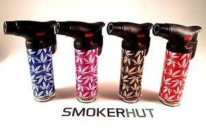 Windproof-Jet-Lighters-Prof-Adjustable-Barrel-Pipe-Table-Gas-Refillable-Leaves