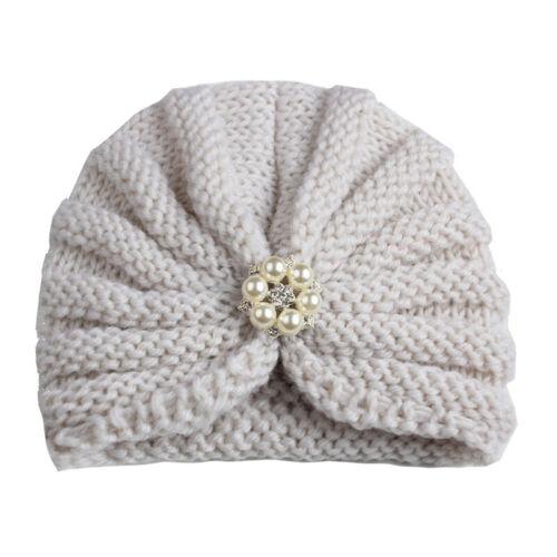 Winter Warm Newborn Toddler Kids Baby Boy Girl Turban Knitted Beanies Hat Caps