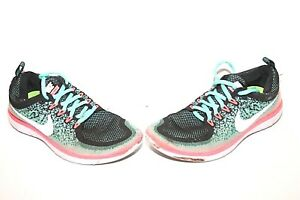 6316d4dbd7ff8 Nike WMNS Free RN Distance 2 Athletic Running Shoes Green Pink Sz ...