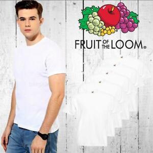 Fruit-Of-The-Loom-Plain-White-Cotton-Mens-Cheap-Tee-T-Shirt-Childrens-Tshirt