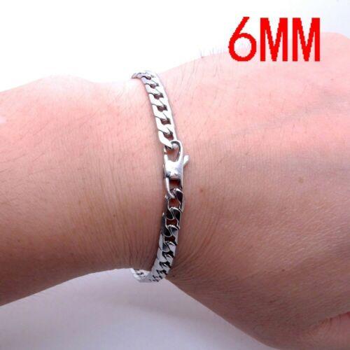 Edelstahl Massiv Panzerarmband Herren Armband Armkette Armreif Silber 20 cm