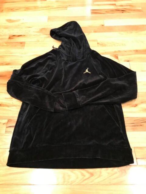 c4cf062bf7a409 Nike Air Jordan Velour Pull Over Hoodie Black Ah2362 010 Men XXL for ...