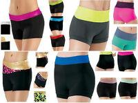 Dance Gymnastics Cheer Booty Mini Bar Low & High Waisted Waist 2 Tone Shorts