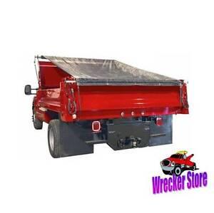 5 x 14 dump truck trailer manual roll cover tarp kit ebay
