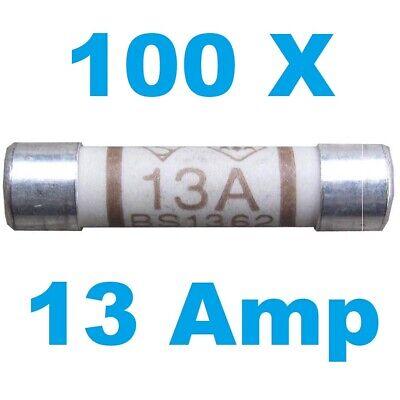 3 x 13 AMP CERAMIC FUSE BS1362 DOMESTIC HOUSEHOLD MAINS PLUG FUSE FREEPOST