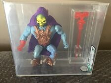 Vintage Mattel 1987 Masters Of The Universe MOTU LASER LIGHT SKELETOR AFA 80 WOW