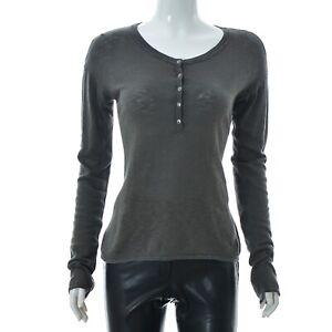 Marc-O-039-Polo-lady-Womens-top-Scoop-neck-quarter-button-long-sleeve-t-Shirt-Medium