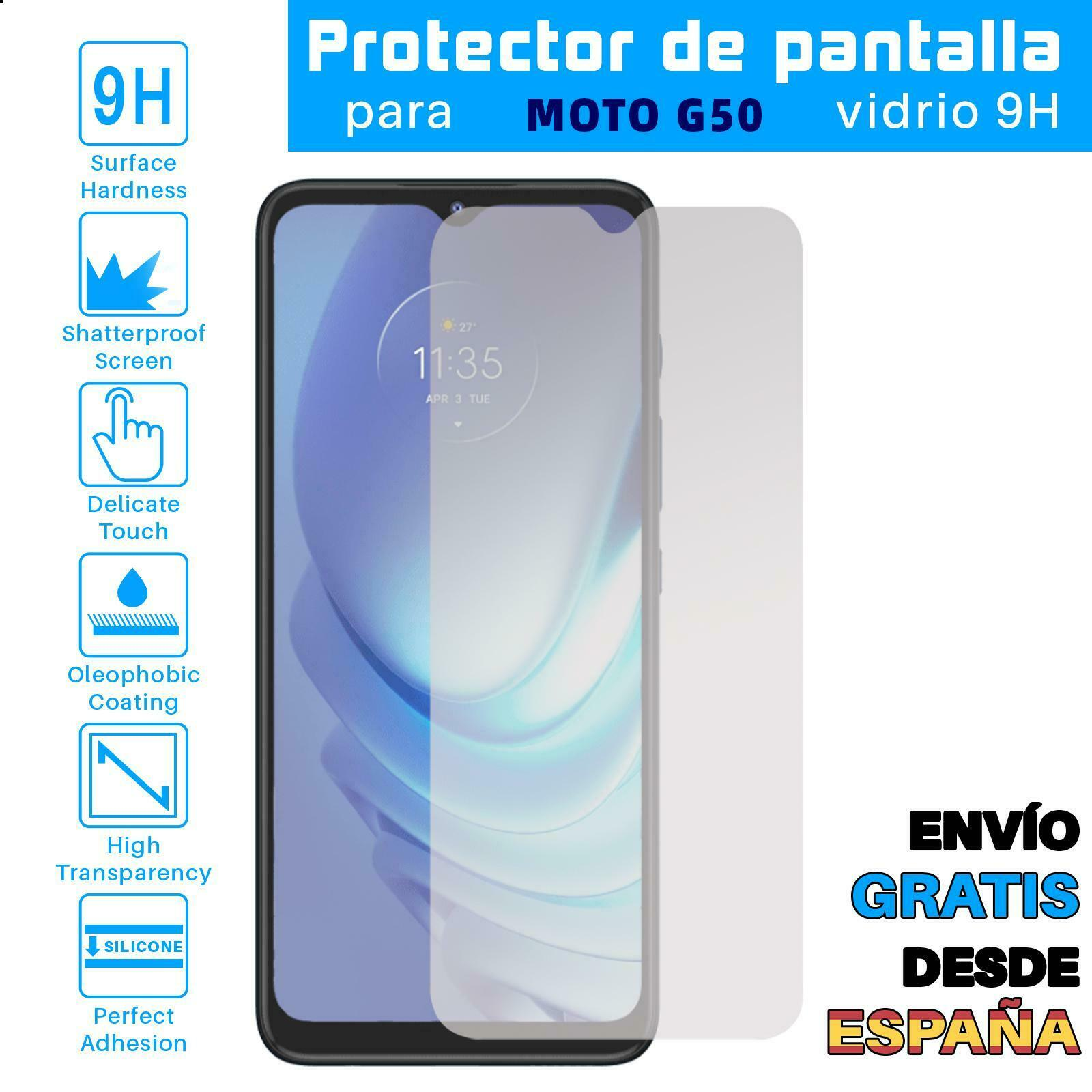 Protector de Pantalla para Motorola Moto G50 Cristal Templado Vidrio 9H Premium