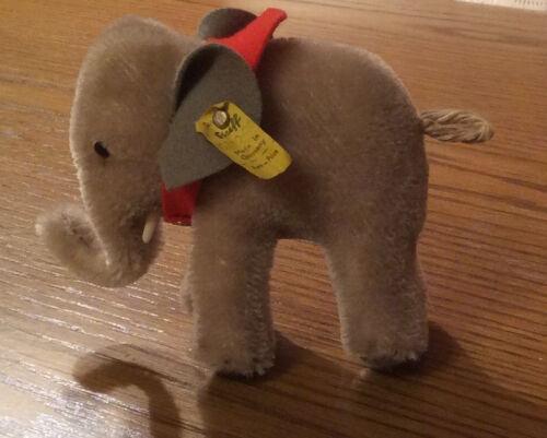 Unbespielt und Top Zustand Steiff Elefant Mohair 1972 #0500/10 10cm