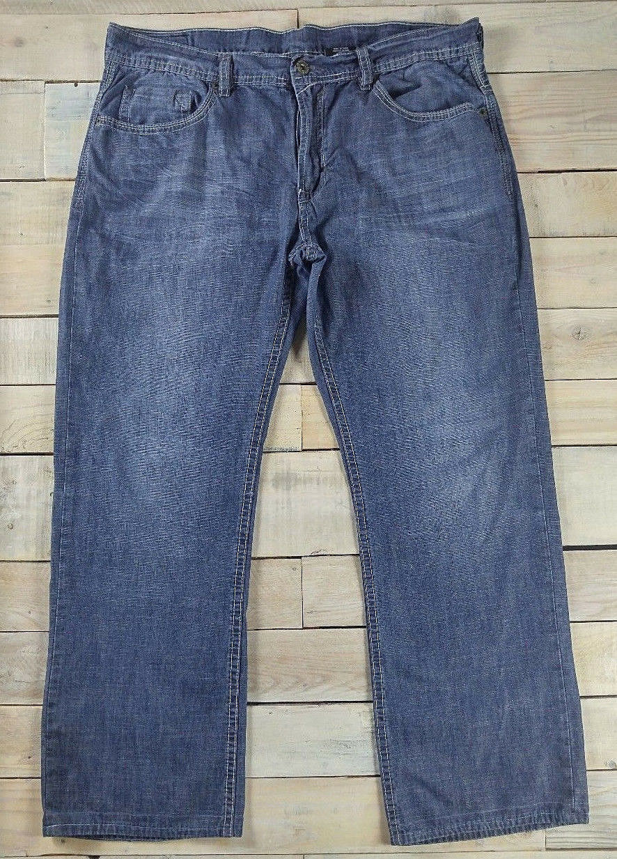 BUFFALO DAVID BITTON BDB Driven Straight Distressed Dark Wash bluee Jeans 36x29