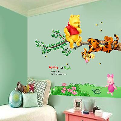 Winnie The Pooh Tigger Tree Wall Decals Vinyl Mural Sticker Kids Nursery Decor Ebay