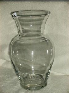"""CLEAR GLASS VASE 11"""""""