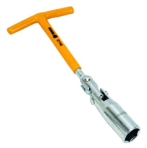 Spezial Zündkerzen Nuss 16 mm Kerzenschlüssel mit Gelenk T-Griff Steckschlüssel