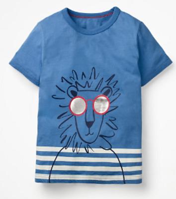 Mini Boden boys tshirt cool animal lion top 2 3 4 5 6 7 8 9 10 11 12 y RRP $26