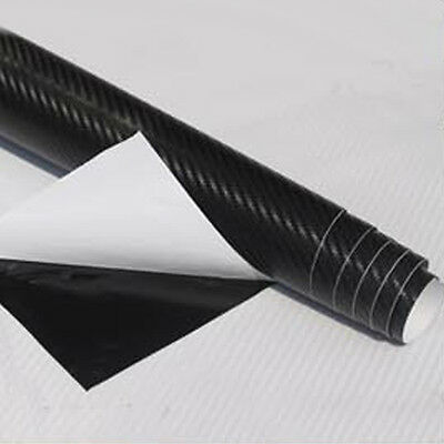 12x50 3D Texture Carbon Fiber Wrap Vinyl Decal Car Sticker Sheet 30x127cm