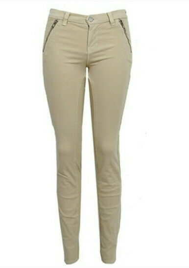 J BRAND Womens 898K120 Jeans Skinny Honey Beige Size 25