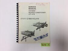 New Holland 477 479 Haybine Mower Conditioner Service Manual