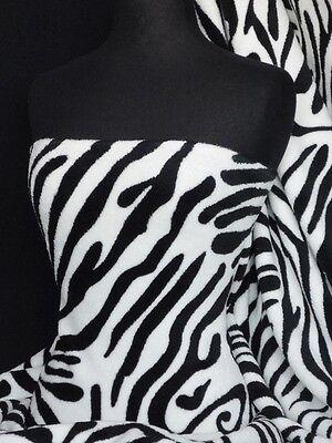 Zebra Micro Fleece Washable Ultra Soft Q876 BKWHT