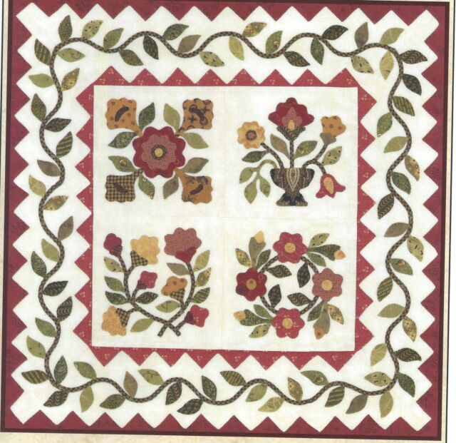 Julia's Garden applique quilt pattern by Lori Smith From My Heart to Your Hands