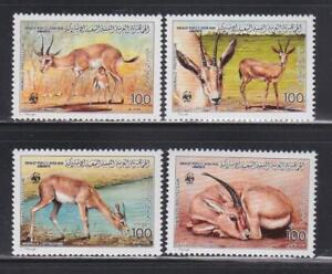 AK34-ANIMAL-KINGDOM-STAMPS-LIBYA-1987-GAZELLE-WWF-MNH
