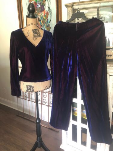 Dana Buckman Velvet Cocktail Party Suit