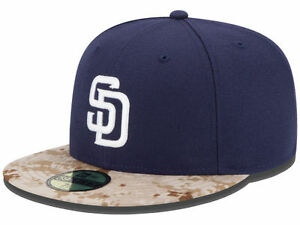 Official MLB 2015 San Diego Padres Memorial Day New Era 59FIFTY ... 8e32cd00557